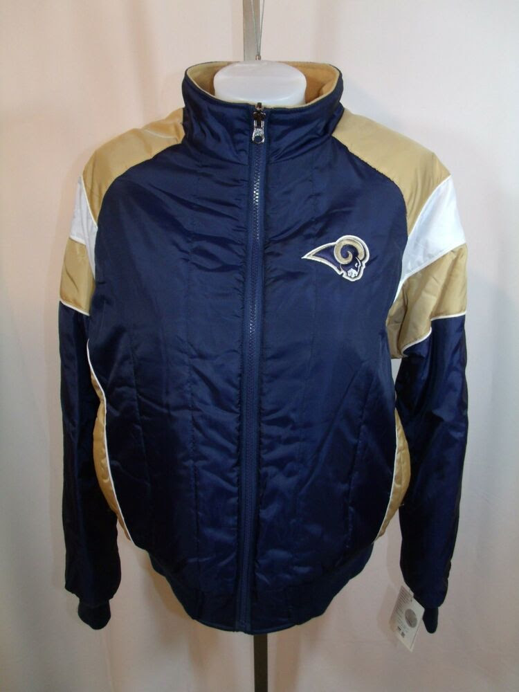 ST. LOUIS RAMS WOMENS MEDIUM REVERSIBLE JACKET COAT EMBROIDERED NFL NWT!  eBay