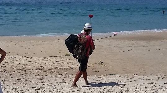selfie, celular, Copacabana, praia