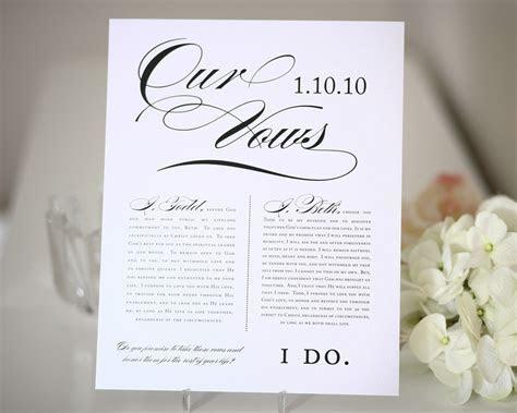 Wedding Vows Print   Wedding Gift, First Anniversary Gift