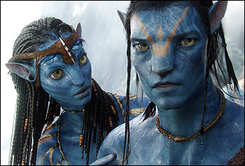 """Zoe Saldana and Sam Worthington shine in """"Avatar,"""" even though they do much of their acting through motion-capture animation."""