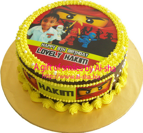 Birthday Cake Edible Image Ninjago
