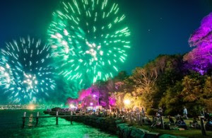 New Year's Eve at Clark Island in Sydney Harbour National Park, credit J Spencer