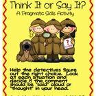 Think It or Say It- Pragmatic Skills