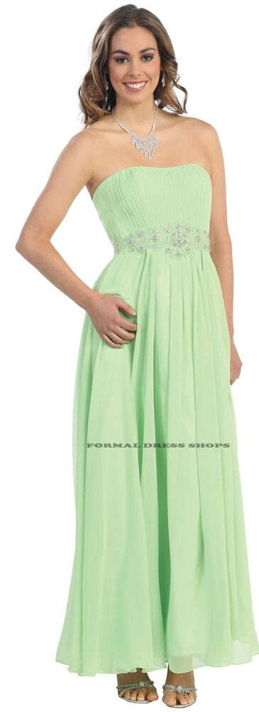 strapless bridesmaid evening dress  size dresses ebay