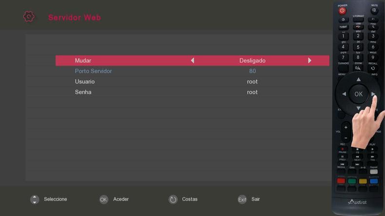 Receptor Audisat A3 plugin web Remote img 11