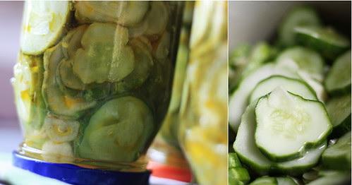 Cucumbers with garlic