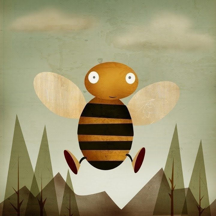 Bee Boy - Print 8x10 - falldowntree