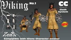 Animation7 com ng: iCLONE PACKS cc Cloths Vikings Bundle
