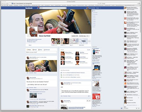 New Facebook Timeline is LIVE: Steve Garfield by stevegarfield