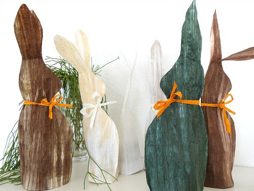 Paper Yarn Rabbits Centerpiece