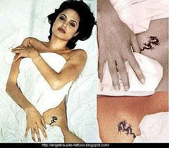 Angelina jolie's show tattoo