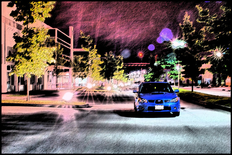 Subaru STI at night ver 2.0