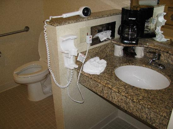 handicap accessible bathroom at the Courtyard - Picture of ...
