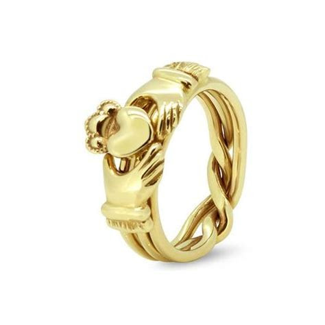 Mens Gold Diamond 7JG MD   Puzzle Rings Creations