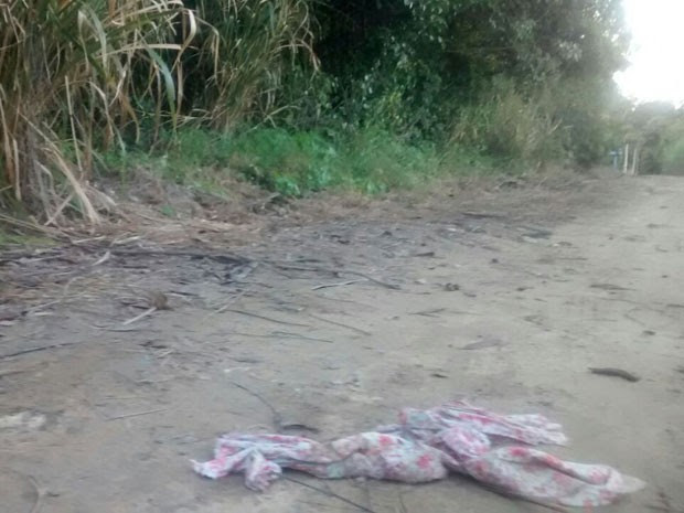 No local do crime, foram encontradas roupas das vítimas usadas na tentativa de estrangulamento. (Foto: Camila Torres / TV Globo)