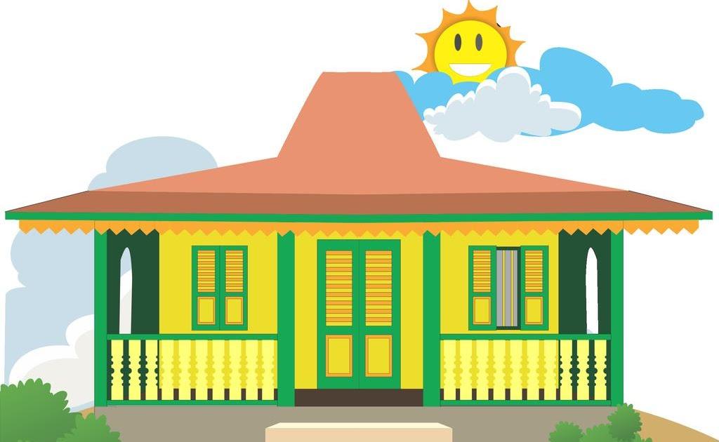 Rumah Adat Betawi Kartun Gambar Alat Musik
