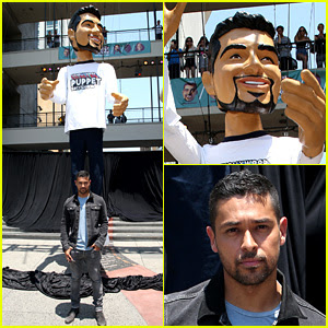 Wilmer Valderrama Poses with a 25-Foot Puppet Version of Him