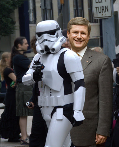 Stephen Harper and Stormtrooper