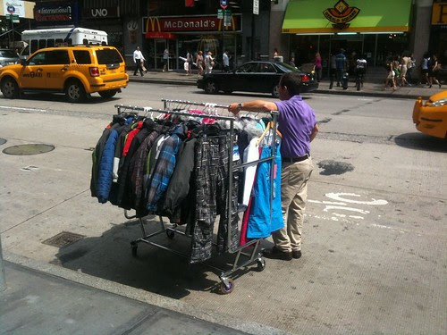Waiting for a garment pick-up