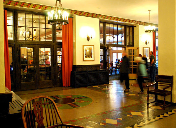 Floor of the lobby and the Ahwahnee Bar.