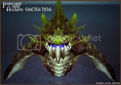 Postcards of Azeroth: Oacha'noa, Goddess of the Depths, by Rioriel Ail'thera