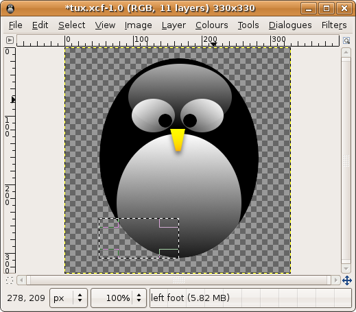 Tux, Screen Shot,