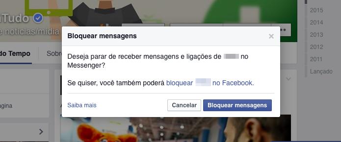 Confirme o bloqueio das mensagens (Foto: Reprodução/Helito Bijora)