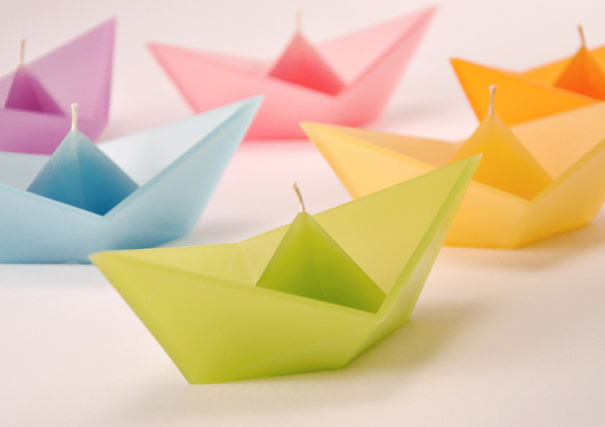 Floating Origami Boat Candle