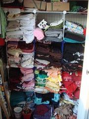 My fabric stash, Jan 11, 2009