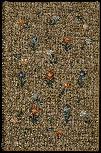 English embroidered binding, late 19th century