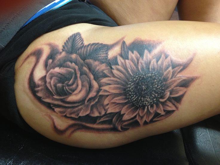 Rose And Sunflower Tattoo Design Of Tattoosdesign Of Tattoos