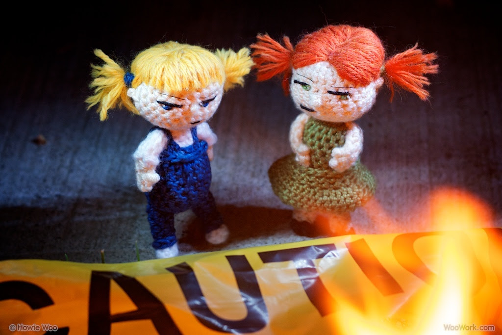 The Trouble Sisters at a Fire