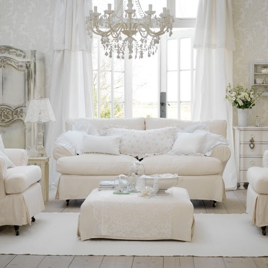 Soft white colour scheme | Shabby-chic style - 10 decorating ideas ...