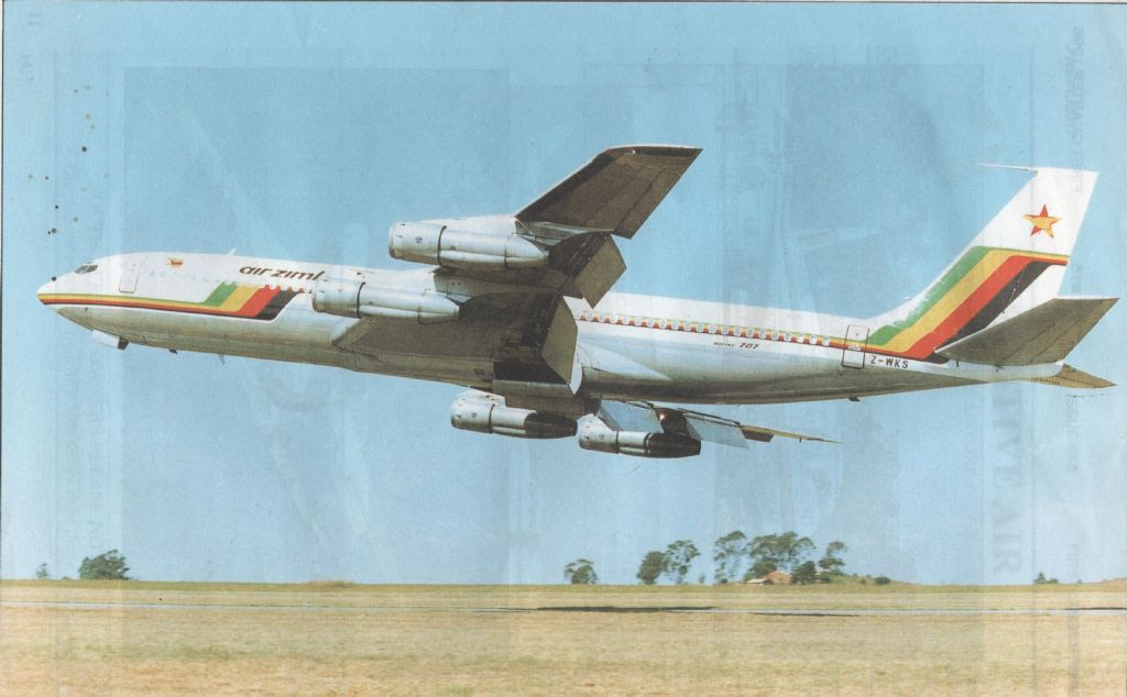Air Zimbabwe's hot shot 707 pilots in 1995