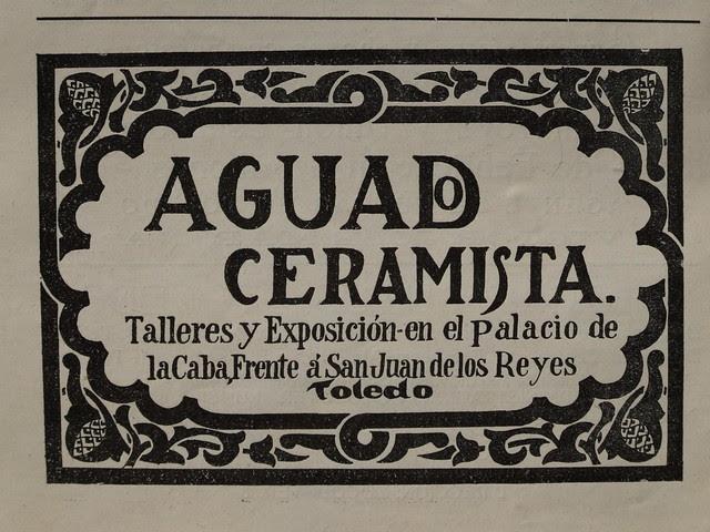 Anuncio de la Cerámica de Sebastián Aguado