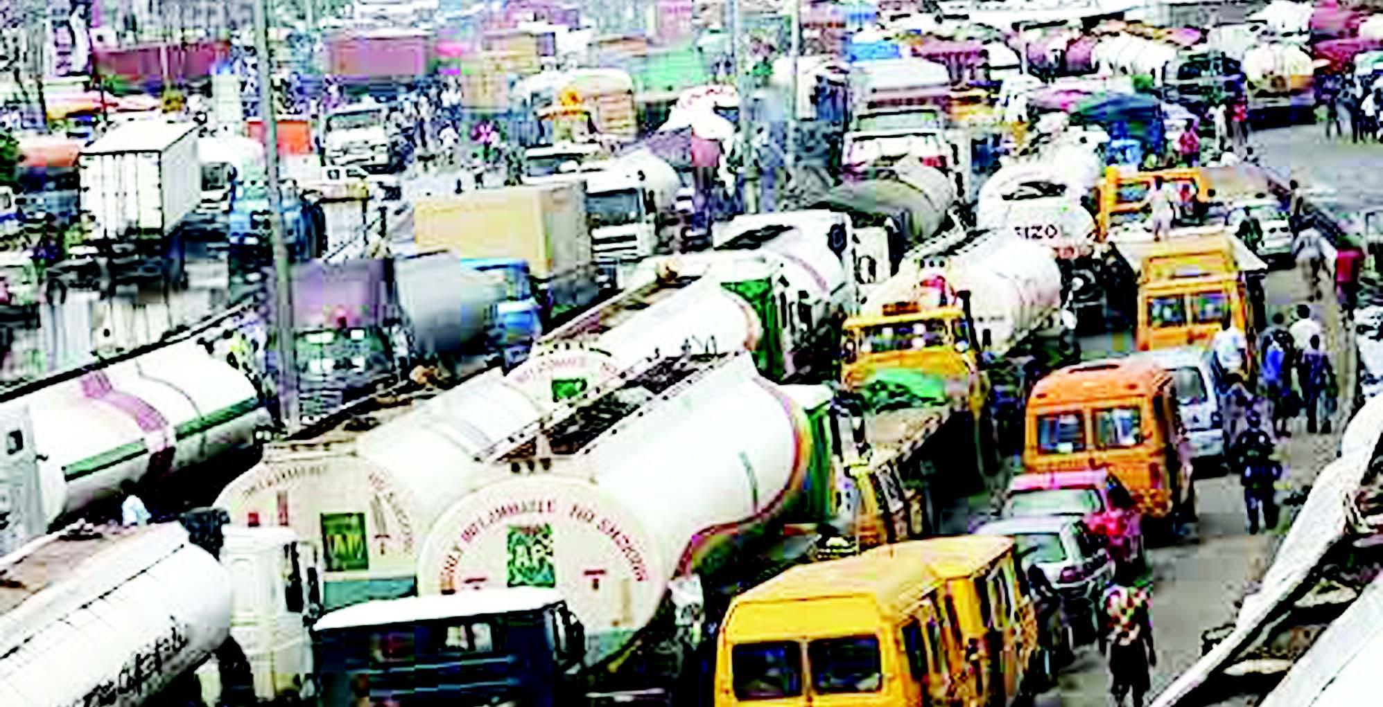 Image result for Oshodi-Apapa gridlock: Tyranny of too many tank farms