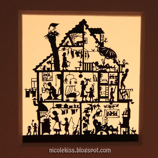 mini house paper cutout