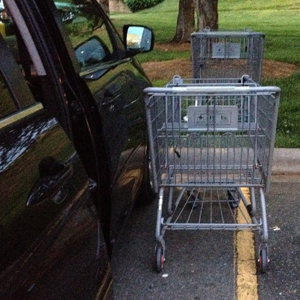 Serious laziness at Walmart. Come on people! Maybe they could have put it a little closer to my car.