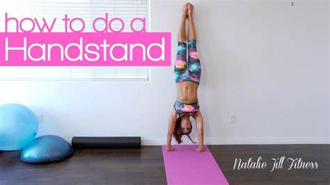 handstand  beginners natalie jill youtube