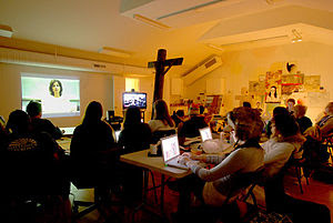 English: Video conference session between SOVA...