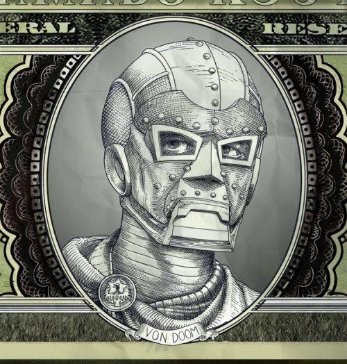 Dr. Doom's Latverian Currency: By Chris Tirri