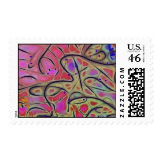 Line Play 17 Vivid Cheerful Abstract Stamp