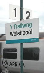 Welshpool Station Sign