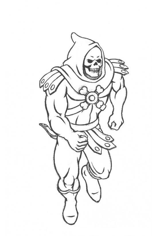 Dibujo De Skeletor De Los Amos Del Universo Para Pintar Y Colorear A