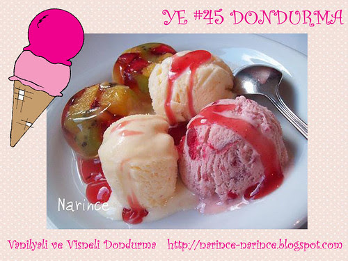 Vanilyali ve Visneli Dondurma - Narince