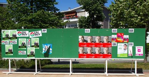 Publicidad electoral en Getxo