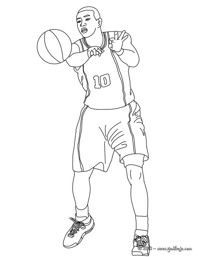 Magnífico Libro Para Colorear De Baloncesto Patrón - Dibujos Para ...