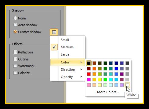 WinSnap 4.5 - Shadow Color