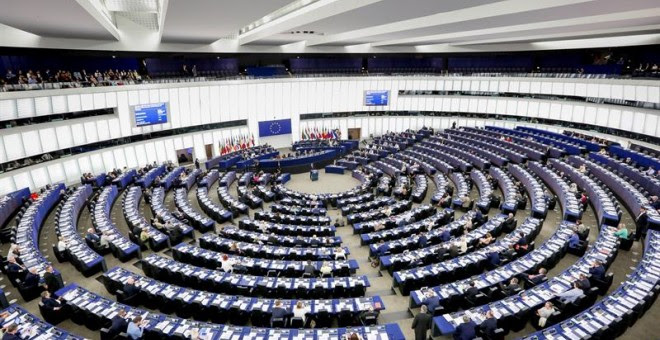 Imagen del pleno de la Eurocámara en Estrasburgo. EFE/ Marc Dossmann