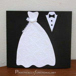 Dress and Tux Trifold Wedding Card   AllFreePaperCrafts.com